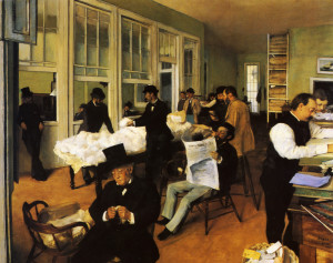 4. Degas the-cotton-exchange-new-orleans-1873