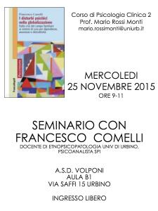 Seminario con F.Comelli