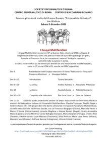 I gruppi multifamiliari_sabato 5 dicembre 2020
