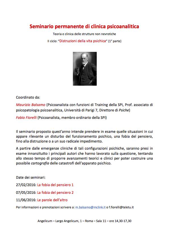 Seminario permanente di clinica psicoanalitica